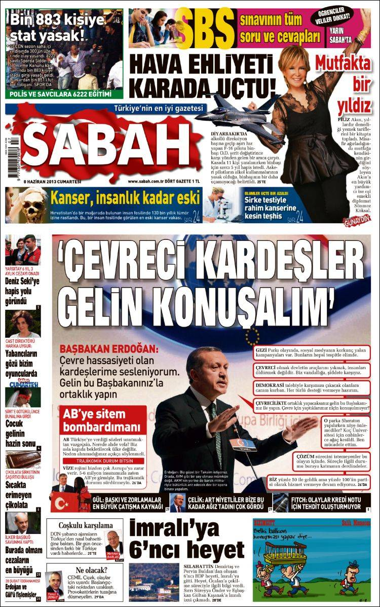 Coding: Gezi Parki protests in Turkish newspapers - PageOneX